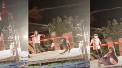 Photo of Video: Luchador se rompe las piernas tras brincar al ring