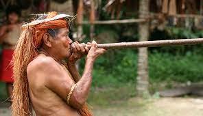indian cu sarbacana curara