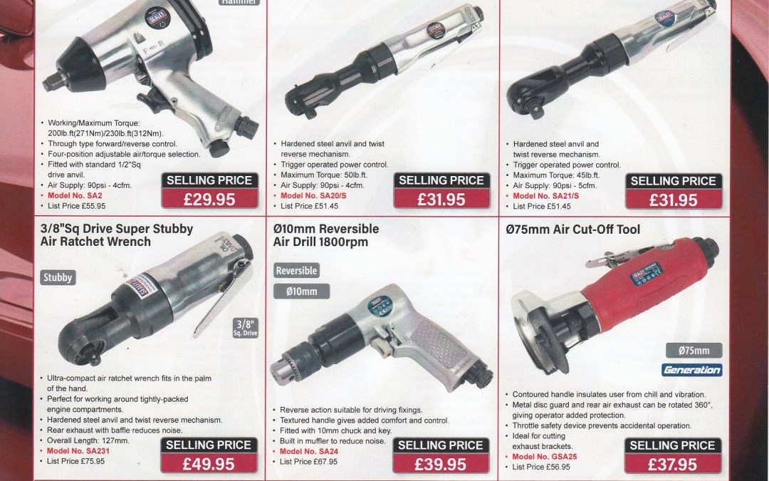 Sealey Air Tools Promotion