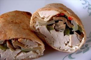 Mushroom & Chicken Wrap