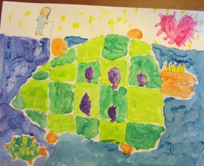 The budding artist in MWM started with imaginative paintings as such when she was 3 years old. We submitted her paintings to the Senator Hernandez's Art Contest and was the youngest to have won the Senator's Award. Her 2 submitted pieces were displayed at the Capitol office and Senate District Office. Unfortunately, this piece along with the Mommy fish she submitted were lost... All we have are digital replicas now.