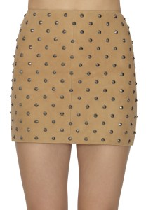 Elana Studded Suede Mini Skirt on sale now + 15% cash back at Alice & Olivia