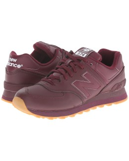 nb 574 burgundy leather