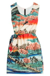 Carven Silk Print Dress on sale now + 15% cash back at StyleBop
