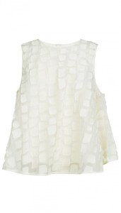 Snow Lash Fil Coupe Flared Sleeveless Top on sale now + 15% cash back at Tibi