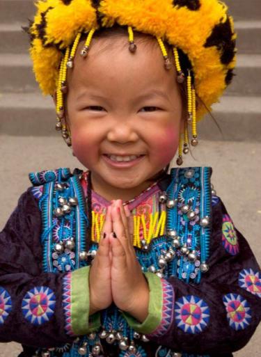 Namaste. kid