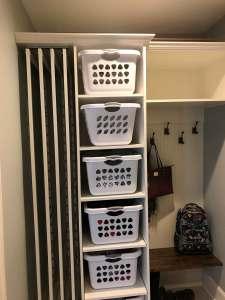 4 racks in White