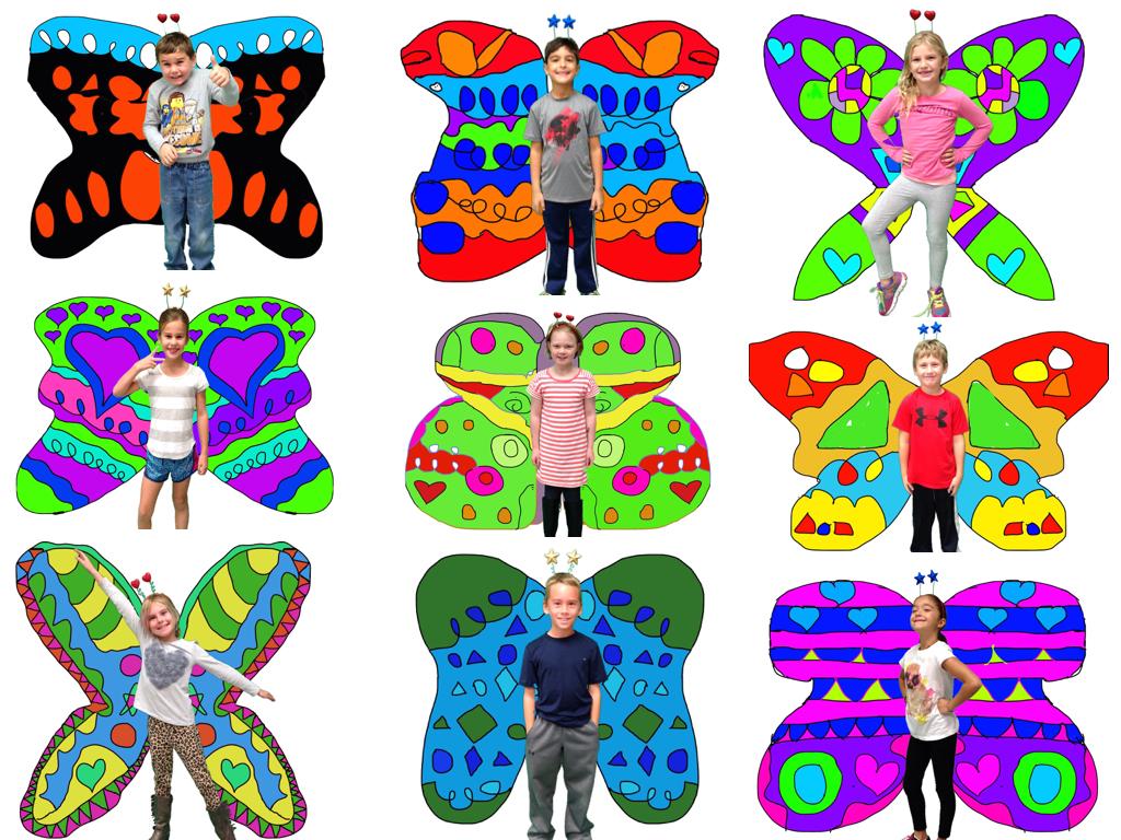 Symmetrical Butterflies With Ipads