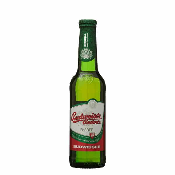 Bottle of Budvar Lager 0.4% Dry Drinker