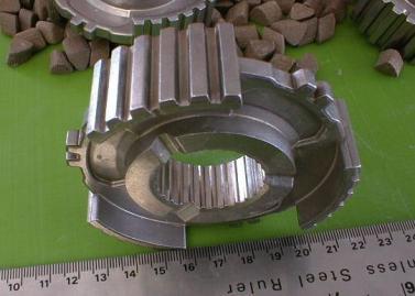powder metal gears deburred