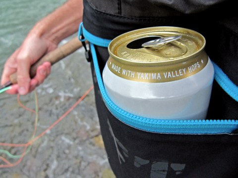 DRYFT waders beer holder