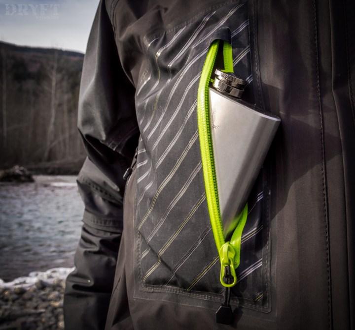 DRYFT Primo wading jacket front pocket