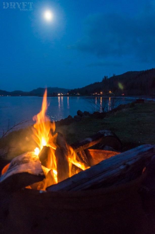 Ocean campfire