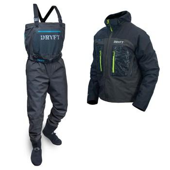 DRYFT S14 waders and Primo Wading jacket bundle