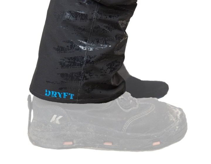 DRYFT Session wading pants gravel guard boot