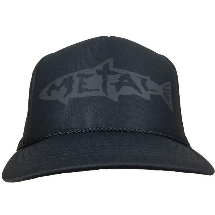 blackout metal trucker
