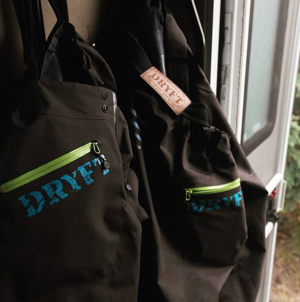 hanging waders to dry