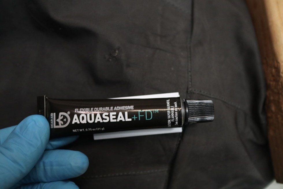Aquaseal for patching waders