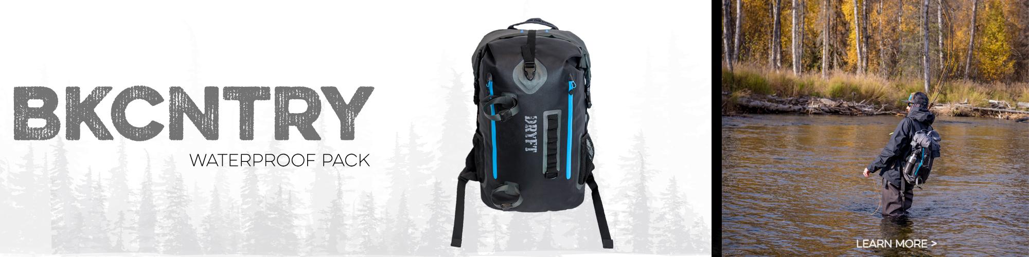 DRYFT BKCNTRY waterproof fishing backpack
