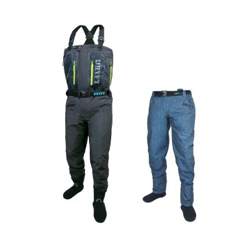 Primo Zip GD wader and SEEKR wading pant bundle