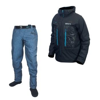 DRYFT Seekr wading pant and Primo Rain bundle