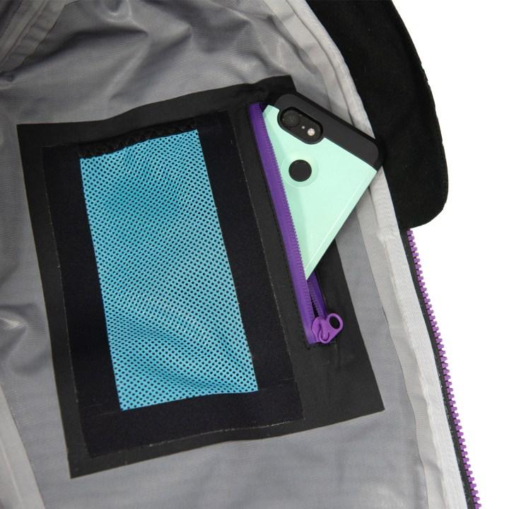 DRYFT women's wading Jacket inside pocket - Primo Rain Jacket
