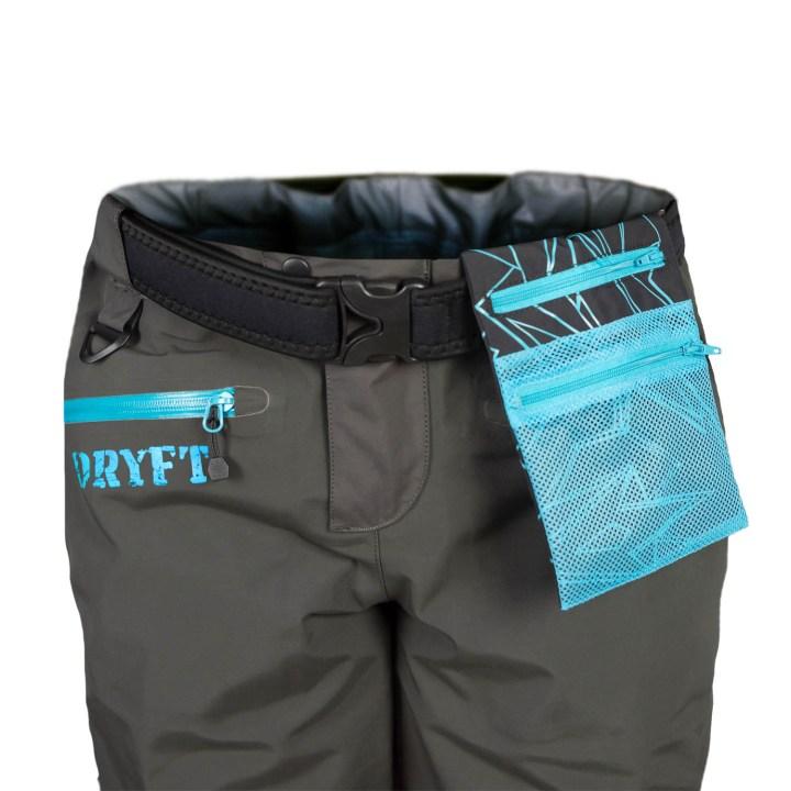 DRYFT women's Session wading pants flip out pocket