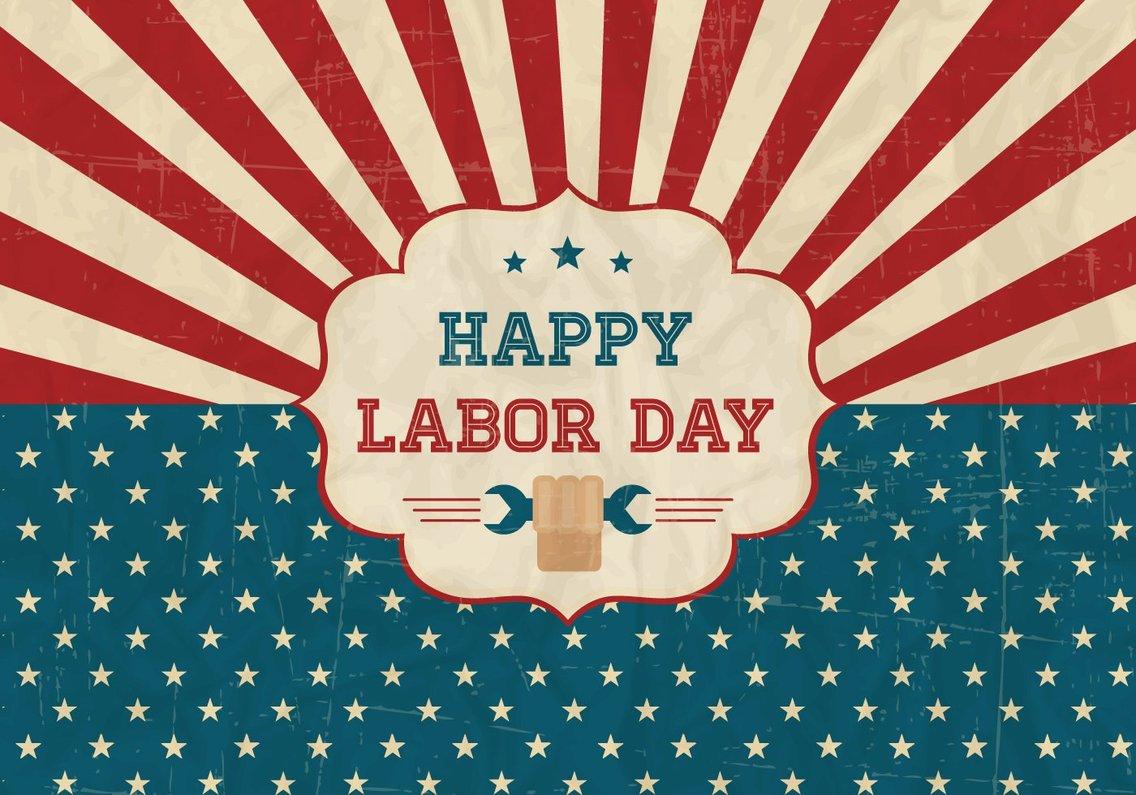 Happy Labor Day Retro Poster