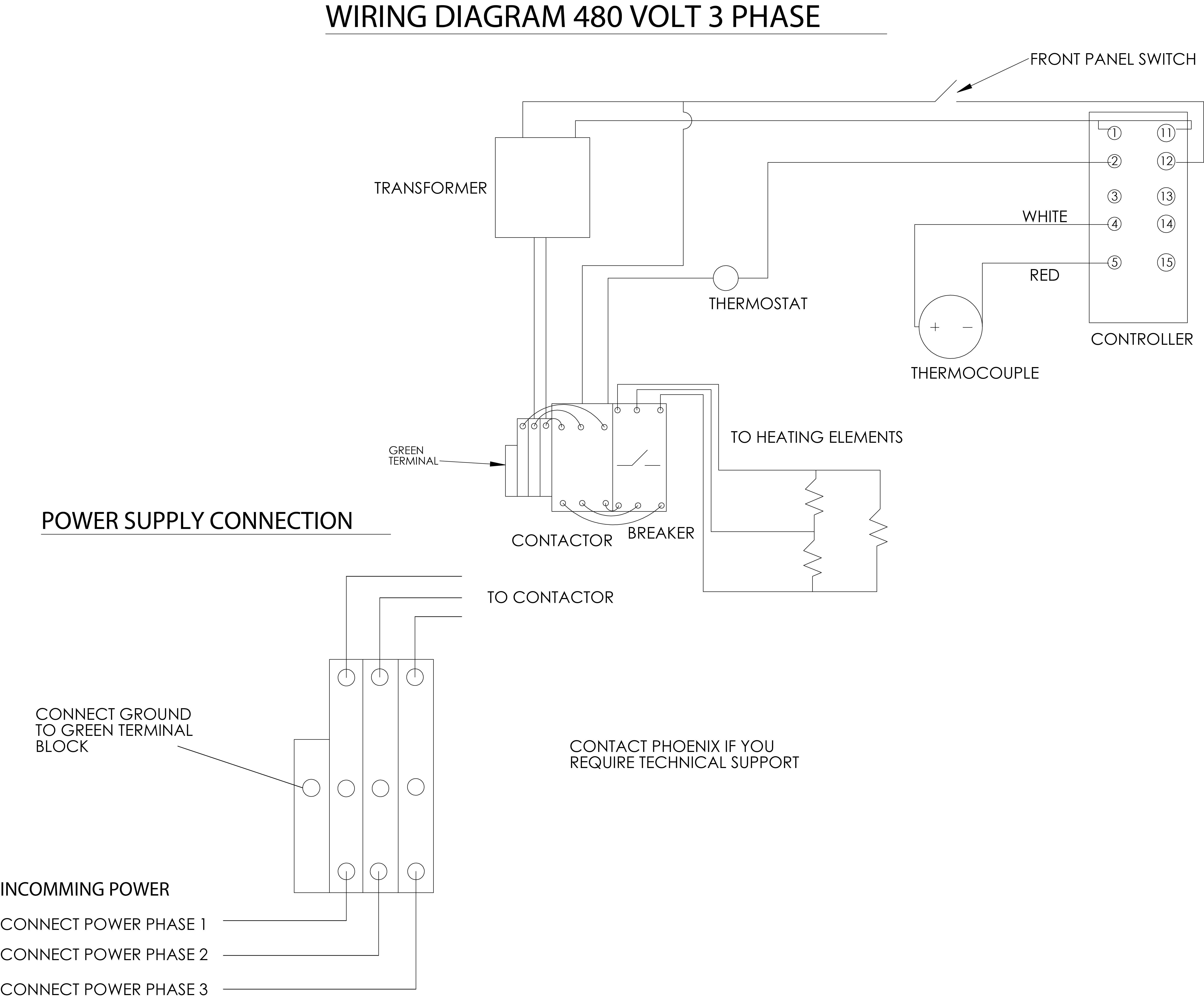 480v And 240v 3 Phase Wiring Diagram