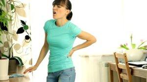 woman bacakache