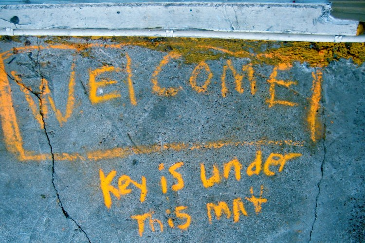 Welcome, by Flickr user alborzshawn. CC-BY.