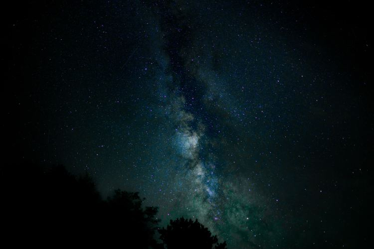 Nathan Anderson, photograph of a starry sky.