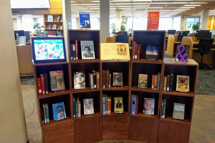 Public domain book display in the O'Neill Library