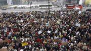 In Finnland versammelten sich die Studenten vor dem Parlament in Helsinki.