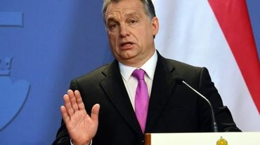 Le Premier ministre hongrois Viktor Orban, lors d'une conférence de presse le 7 janvier 2016 à Budapest