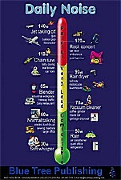 Daily Noise Decibel Level Poster Health Education