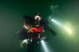Rebreather diver - SS Shuna