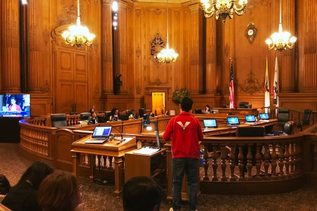 DSA SF mebers speak in support of a public bank
