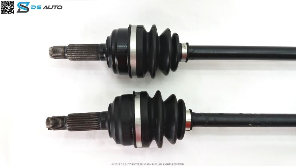 This is Perodua Viva drive shaft set, showcasing the outer constant velocity joint.