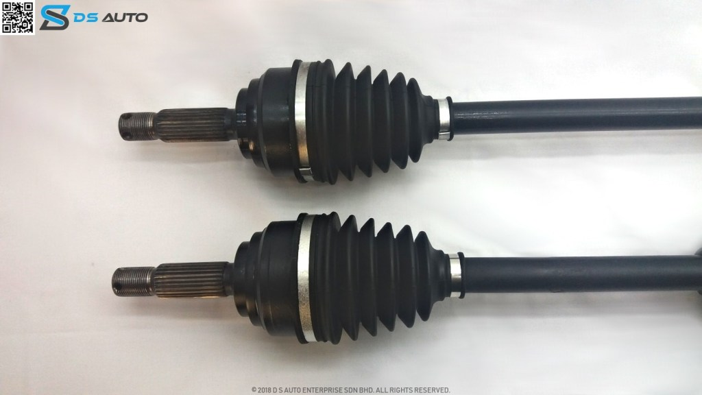 This is Proton Waja drive shaft set, showcasing the outer constant velocity joint.