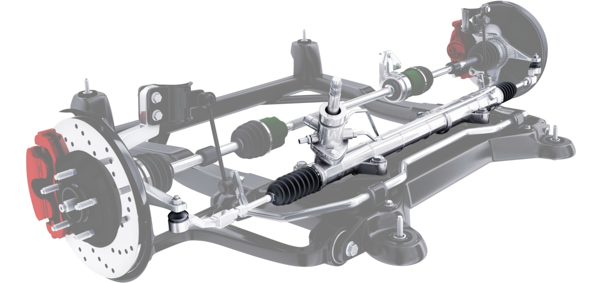 This is a hydraulic power steering rack - one of the major component of our car steering system.