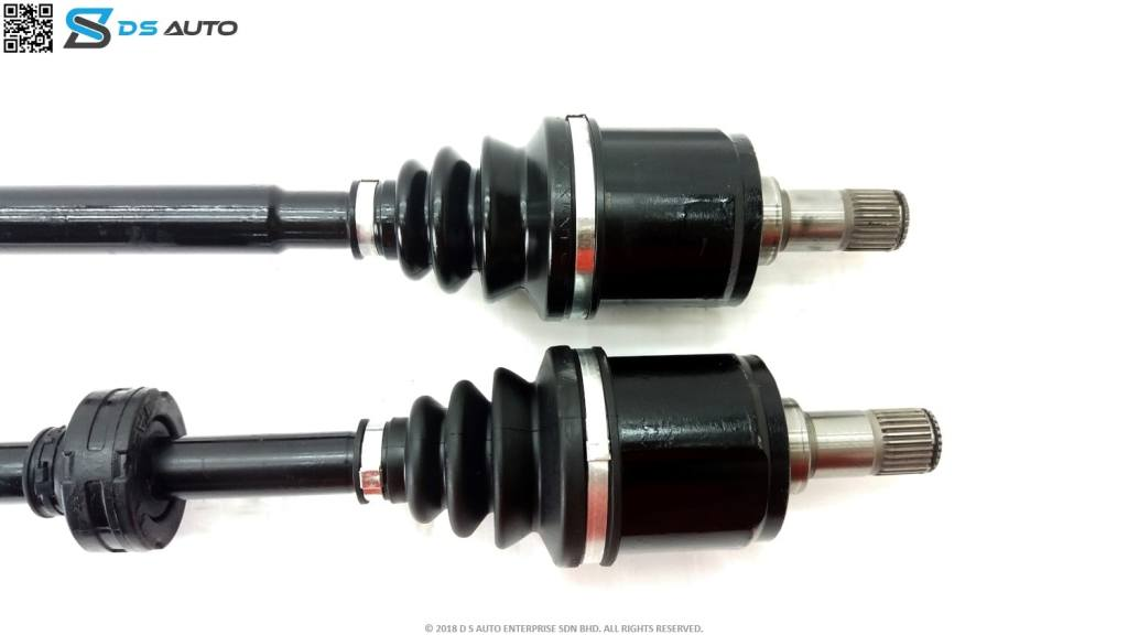 This is generic Honda drive shaft set, showcasing the inner constant velocity joint.