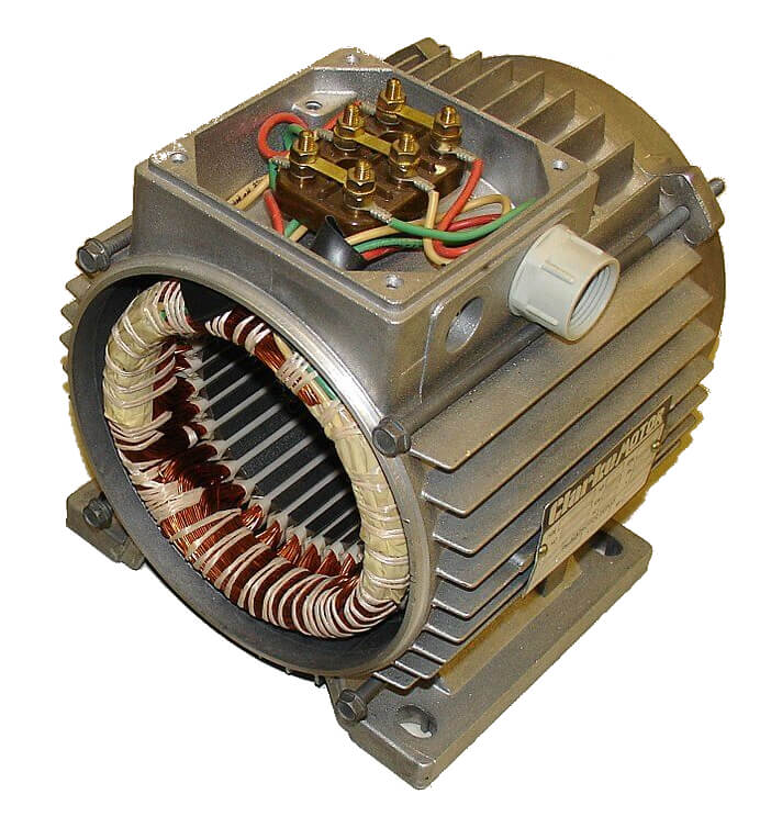 This is a stator of an alternator. You can see the copper windings in the center.
