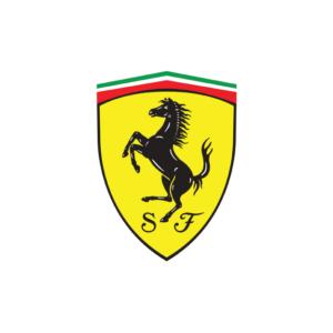Ferrari's brand logo.