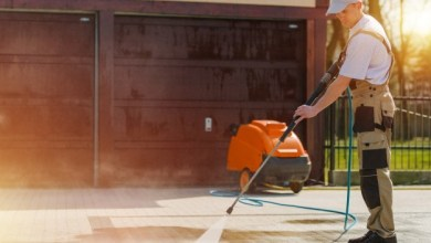 Clean the carpet by steam