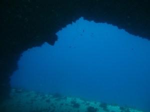L'arche dans la baie du Diamant DSC club de plongée