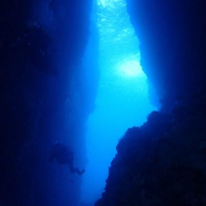 la faille au rocher du Diamant- Diamant Sub club, club de plongée du Diamant