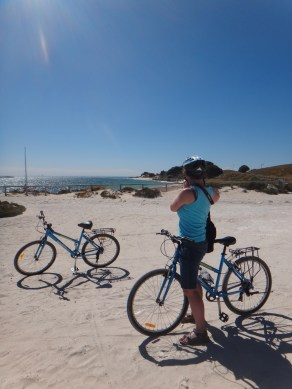 Biking around Rottnest Island just of the Western coast of Perth, Australia