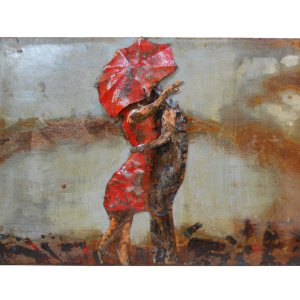 Modern Metal Art Wall Sculpture Home Decor Women and Man - DSD Brands
