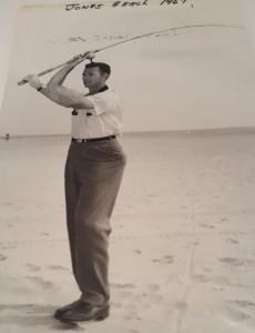 Harry Aiken, surfcaster, living legend of delaware